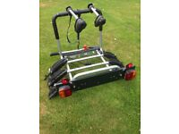 Tow ball mounted 3 bike rack