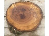 Oak Log Slice Wedding etc Cake Stand Different Sizes Available