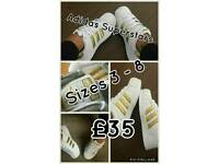 Adidas Superstars Sizes 3-8