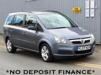 2007 VAUXHALL ZAFIRA 1.6i Club 5dr no deposit finance available