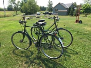 Vintage His and Hers Raleigh Superbe