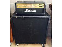 Marshall MG 100 HDFX Amplifier Head & Peavey TB412s 4x12 Speaker Cab