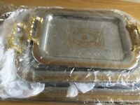 Royal dining afternoon tea tray set of 3 for serving