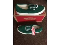 Green Suede Vans trainers Size 6.5 women's or 7.5 men's (unisex) brand new with tags