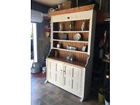 Kitchen dressers solid pine wood oak cream storage unit display cabinet console hall