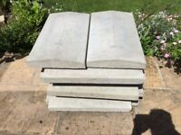 Concrete coping stones