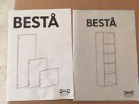 IKEA Besta cabinets in white,
