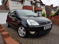 2003/03 Ford Fiesta 1.4 Zetec 3dr, Low Mileage, Metallic Panther Black, Alloy Wheels, HPI Clear