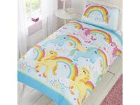 Kids Unicorn and Rainbows Single Duvet Set. Brand new