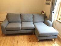 Next corner sofa Grey - Excellent condition