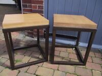 Pair of quality side tables