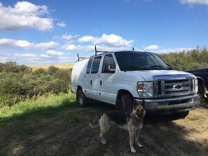 Ford E-350 utility van