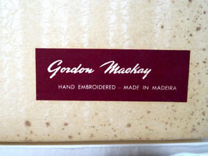 Bed Linens GORDON MACKAY PILLOW SLIPS Madeira embroidered IN BOX
