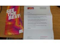 IAAF World Championships Athletics Sunday night - 2 x Cat B (Premium) tickets - face value £250