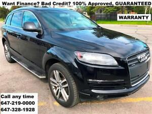 2007 Audi Q7 Premium FINANCE 100% APPROVED WARRANTY 647-219-0000
