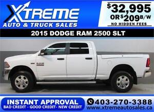 2015 DODGE RAM 2500 CREW *INSTANT APPROVAL* $0 DOWN $249/BW!
