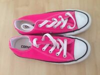Women's Bright Pink Converse (size 4)