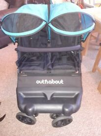 Double Buggy Out n about little nipper Immaculate condition. From birth. Single carrycot also.