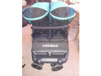 Double Buggy Out n about little nipper with carrycot and attachment. Like new..Immaculate condition