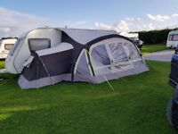Nearly new inflatable awning with additional bedroom attachment for sale.