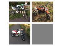 125cc stomp & 125cc Xsport Pitbike pit bike & Honda xr 70 crf