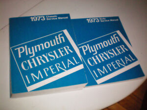 Manuel Shop 1973 Plymouth, Chrysler, Imperial