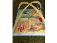 Mothercare Playmat with hanging toys good condition