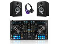 Pioneer DDJ-RX Controller + 2 Pair S-DJ80X Active Monitors & HDJ-500 Headphones Full Warranty 2019