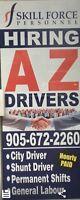 Hiring AZ driver urgent