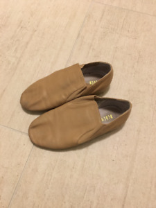 Bloch Tan Leather Jazz Shoes Size 1.5 - Excellent Condition!