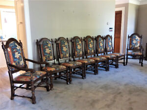JACOBEAN STYLE CHAIRS