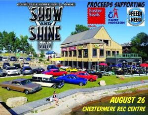 Chestermere Show & Shine Car Show Aug 26
