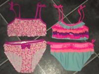 2 Girls Bikinis Age 7-8 NEW!