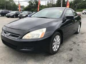 2006 Honda Accord Cpe EX V6 NEW MVI, LEATHER, SUNROOF NEW BRAKES