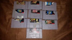 Selling a Bundle of 10 SNES Games!
