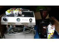 Fracino commercial coffee machine with grinder