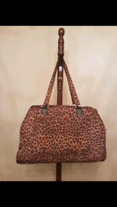 Animal Print carry on duffle gym bag