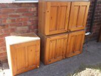 Pine Kitchen Units / Cupboards
