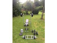 Weight bench + weight