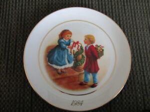 Four Avon Christmas Collector's Plates 1981, 1982, 1983, 1984