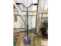 Auto spade with fork attachment