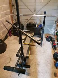 Home gym weights bench