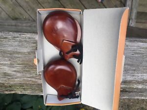 Vintage 4 pairs of Spanish castanets