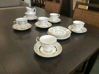 Ashley 22kt gold 19 piece china plate and cup set