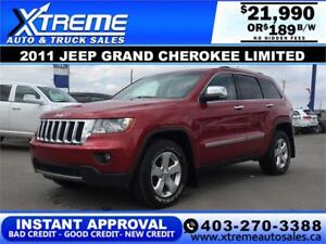 2011 Jeep Grand Cherokee Limited $189 b/W APPLY NOW DRIVE NOW