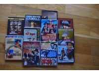 Assorted box of classic western movies on DVD