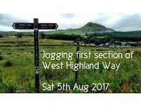 Jogging first section of West Highland Way