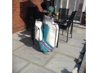 Ladies golf clubs and bag, good condition, can deliver locally