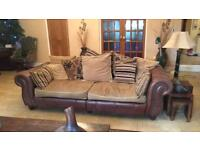 2 large sofas and cuddle chair