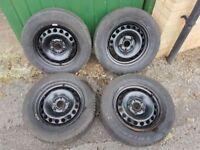 """4x steel wheel rims 5x112 15"""" fits Audi, VW, Skoda, Seat..."""